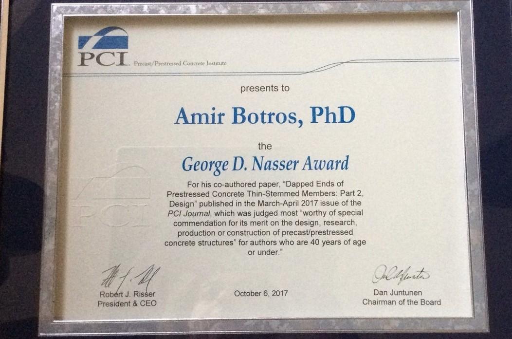George D. Nasser PCI Award