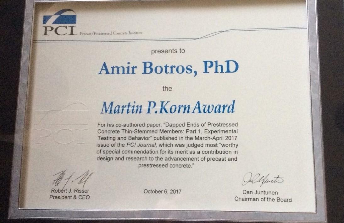 Martin P. Korn PCI Award