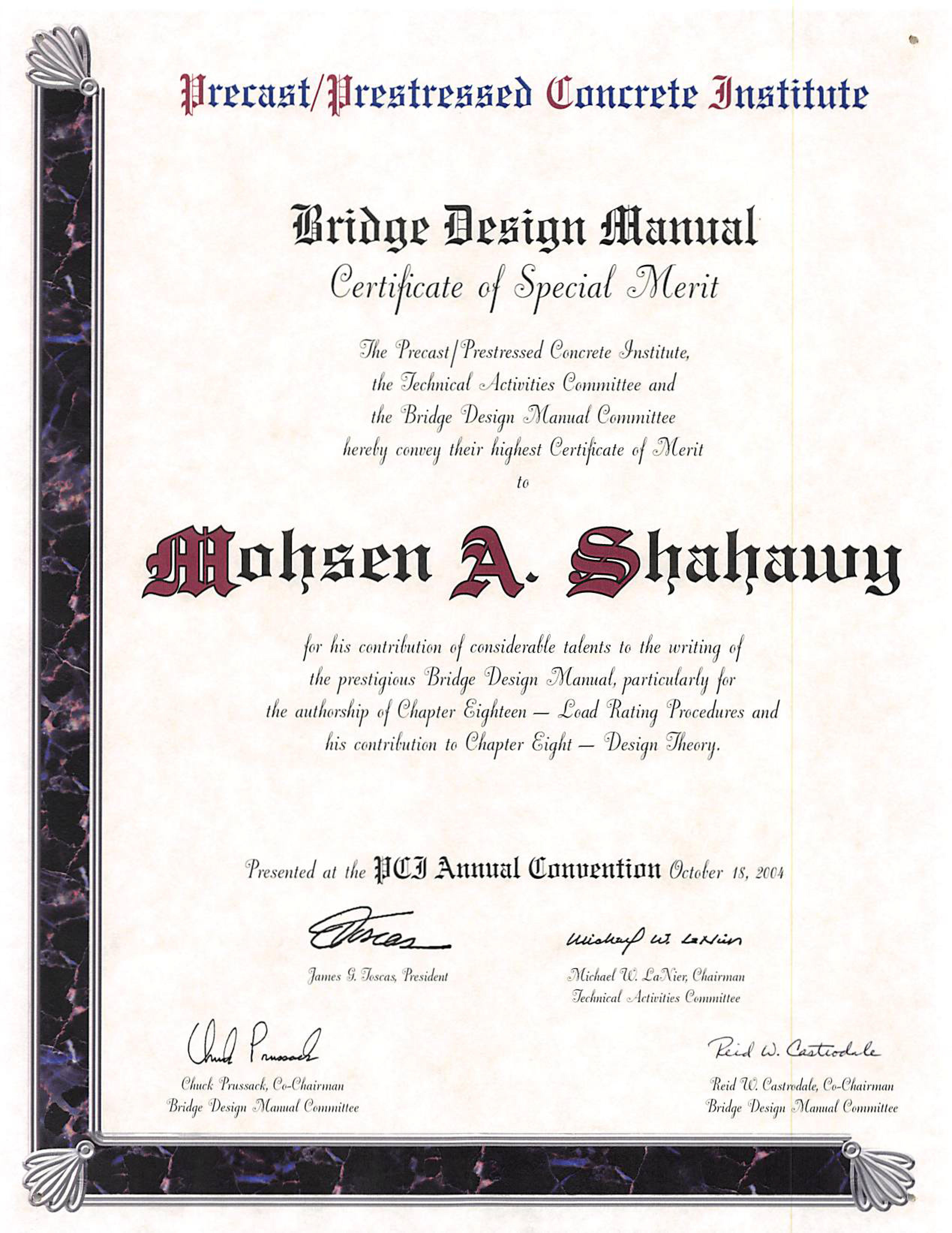 BDM Certificate